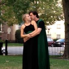 Caroline Kingsley as Titania and Jared Dennis as Oberon