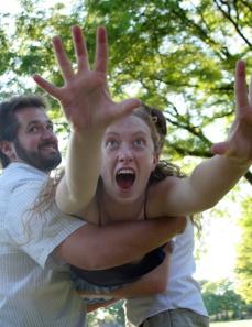 Habben as Lysander and Anne Korajczyk as Hermia