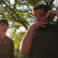 Adrian Garcia as Flute and J. Preddie Predmore as Bottom