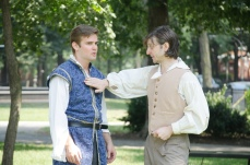 Brian Scannell as Romeo and Nick Ferrin as Peter