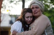Ashlee Edgemon as Juliet and Molly Lyons as Nurse