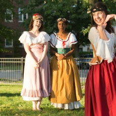 Meredith Ernst as Margaret, Kanome Jones as Ursula, and Ashlee Edgemon as Beatrice