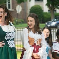 Elizabeth Rentfro as Balthasar, Ashlee Edgemon as Beatrice, Vivian Knouse as Hero, and Kanome Jones as Ursula