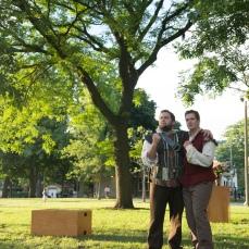 Chris Smith as Don Pedro and Adam Habben as Claudio