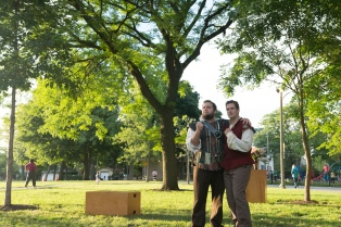Chris Smith as Don Pedro and Adam Habben as Claudio