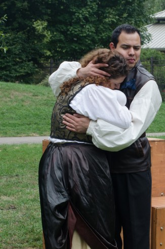 Elizabeth Rentfro (Lady Macduff) and Francisco Lopez, Jr (Ross)