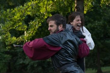 Colin Wasmund (Macbeth) and Margaret Kellas (Young Siward)