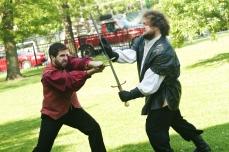 Macbeth (Colin Wasmund) and Macduff (Chris Smith)