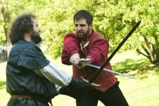 Macduff (Chris Smith) and Macbeth (Colin Wasmund)