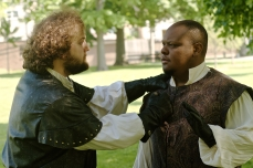 Macduff (Chris Smith) and Macolm (Julian Stroop)