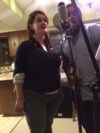 Elizabeth Rentfro and Trey Wright singing gorgeous harmonies