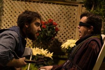 Alex Mauney as Feste and Jared Dennis as Malvolio