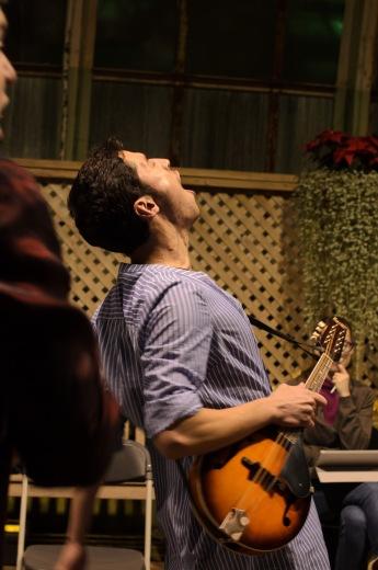 """Hold thy Peace!"" Erick Rivera on the mandolin"