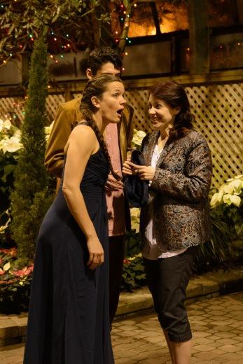 Maureen Yasko as Fabian, Nick Loumos as Orsino and Meredith Ernst as Viola