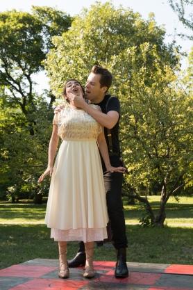 Bianca Phipps (Ophelia), Sam Cheeseman (Hamlet)