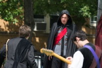 Jared Dennis (Ghost), Sam Cheeseman (Hamlet), Erick Rivera (Musician)