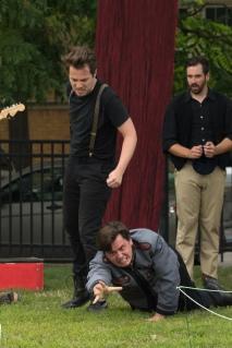 Sam Cheeseman (Hamlet), Jared Dennis (Claudius), Adam Habben (Osric)